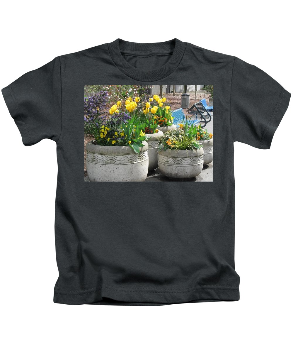 Flowers Kids T-Shirt featuring the photograph Spring Fling by Thomas Sexton