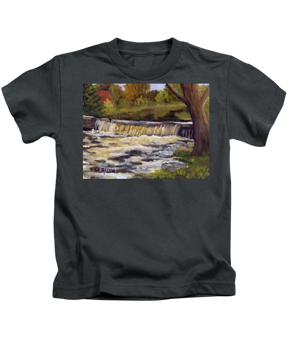 Water Kids T-Shirt featuring the painting Spring Flow by Sharon E Allen