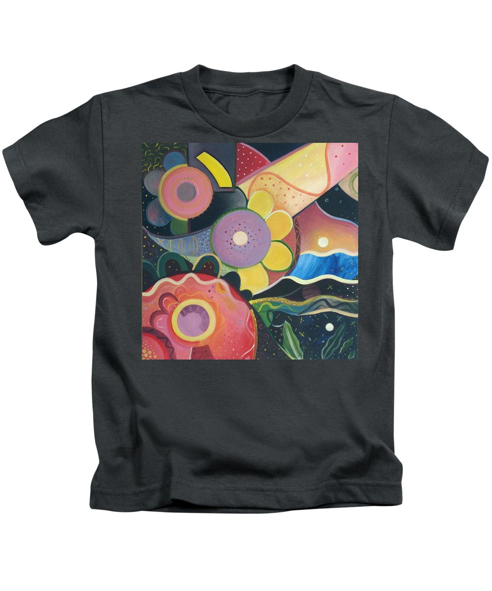 Spring Kids T-Shirt featuring the painting Spring Is Coming by Helena Tiainen