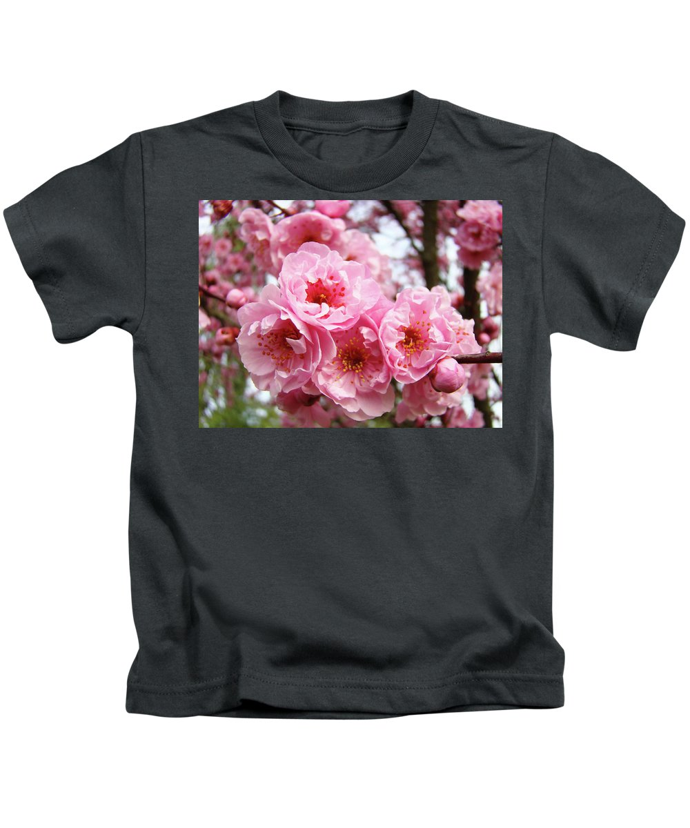Blossom Kids T-Shirt featuring the photograph Spring Pink Tree Blossoms Art Prints Baslee Troutman by Baslee Troutman
