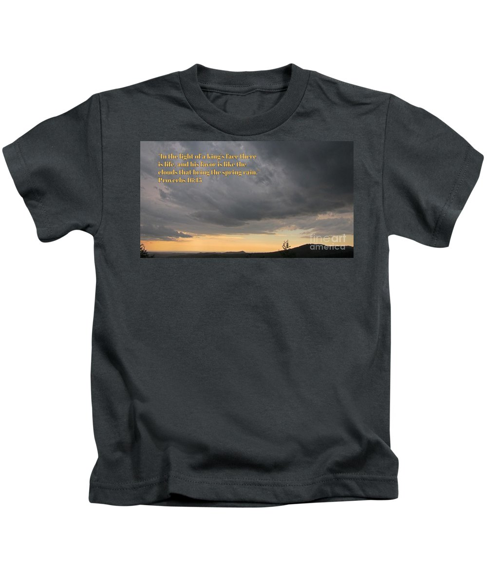 Bible Kids T-Shirt featuring the photograph Spring Rains by John Malone