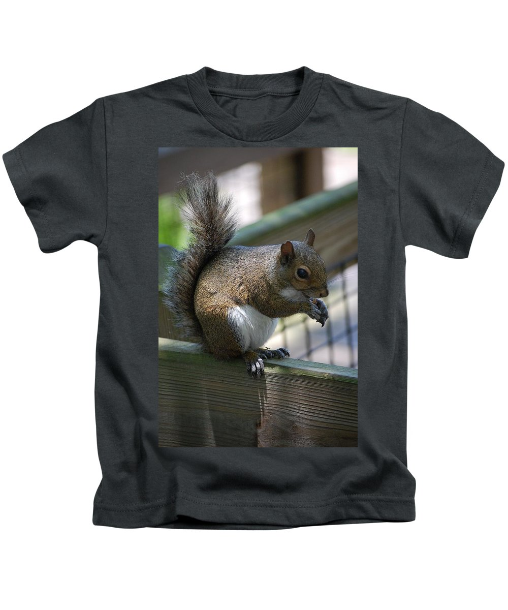 Squirrel Kids T-Shirt featuring the photograph Squirrel II by Robert Meanor