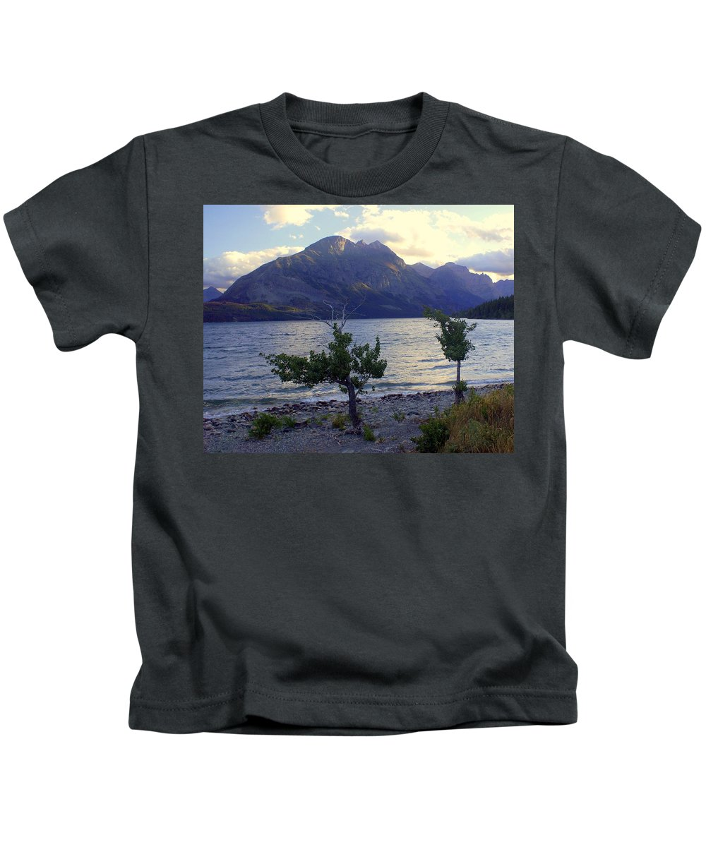 St. Mary's Lake Kids T-Shirt featuring the photograph St. Mary Lake by Marty Koch