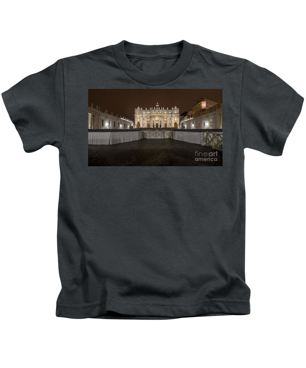 Basilica Kids T-Shirt featuring the photograph St. Peter Basilica by Valerio Poccobelli