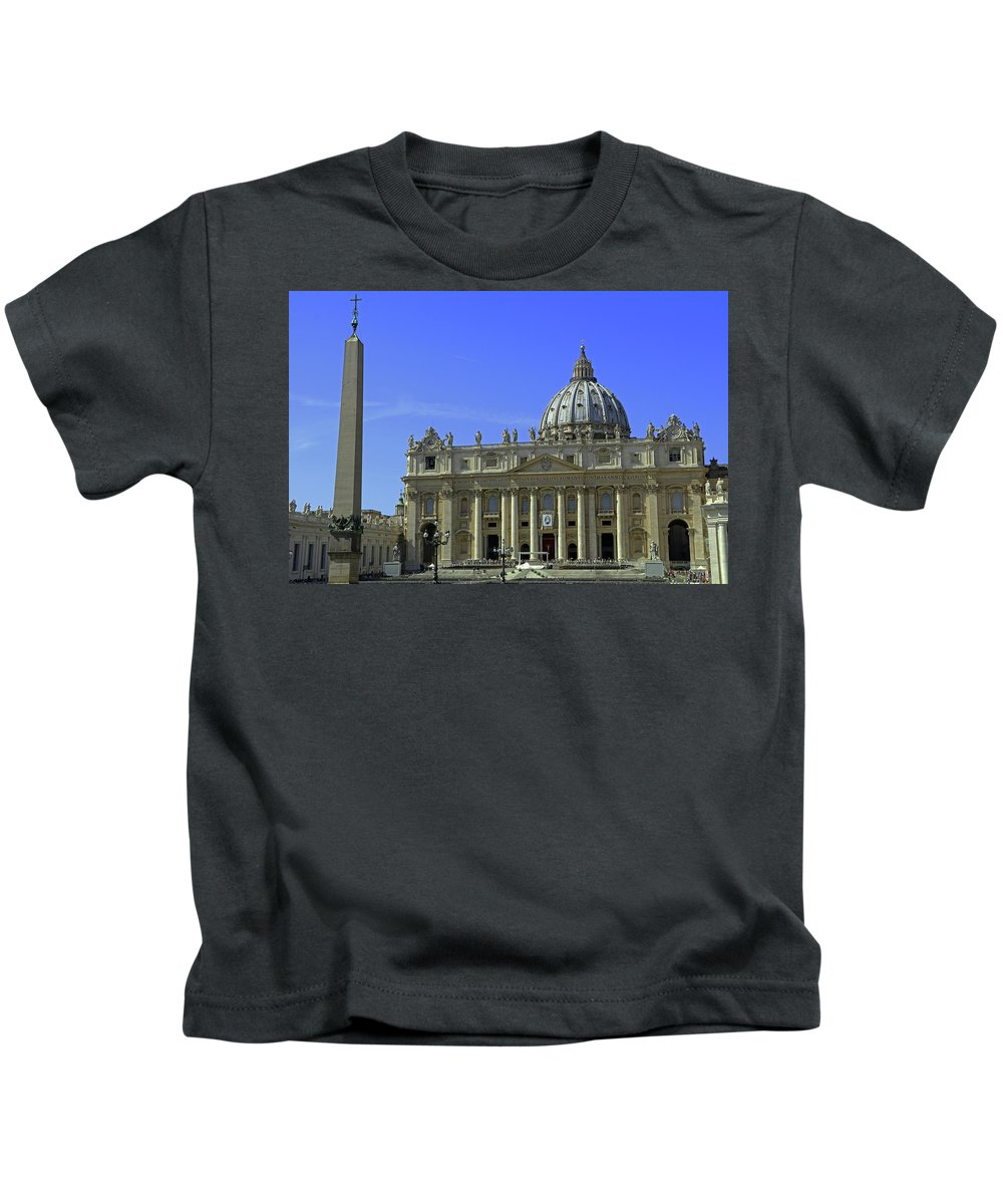 St. Peter's Basilica Kids T-Shirt featuring the photograph St Peters Basilica by Tony Murtagh