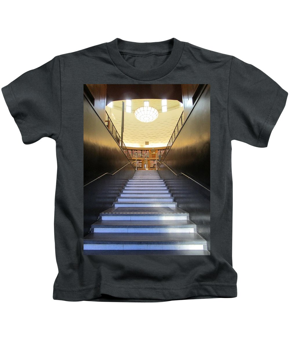 City Kids T-Shirt featuring the photograph Stairway To Knowledge by Rosita Larsson