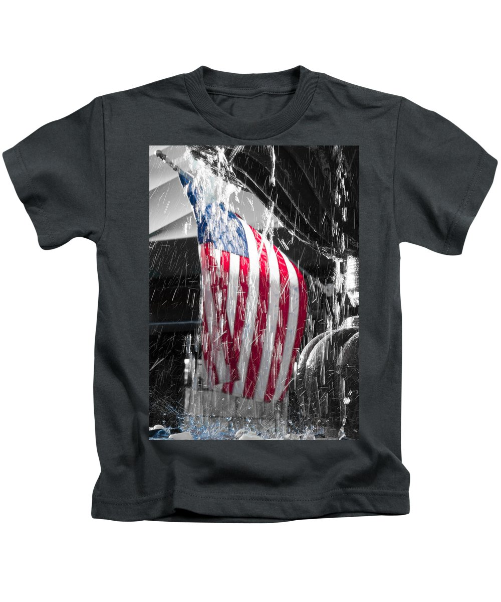 American Kids T-Shirt featuring the photograph Star Spangled Splash by Scott Campbell
