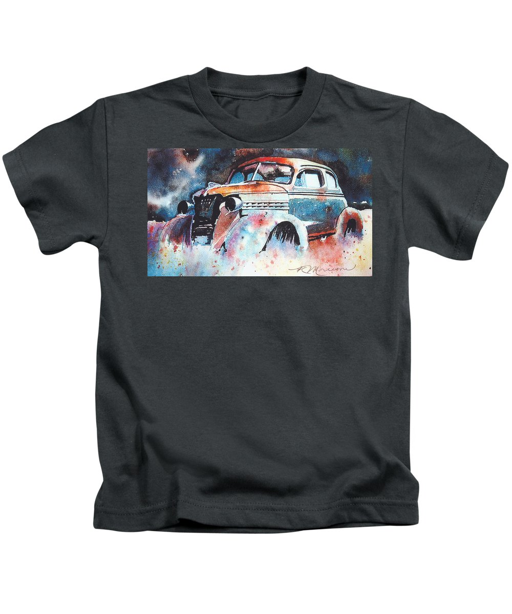 Chev Kids T-Shirt featuring the painting StarlightChevy by Ron Morrison