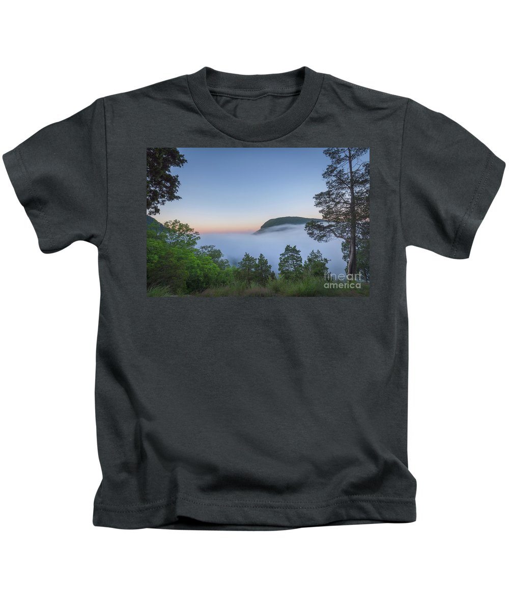 Morning Steam Kids T-Shirt featuring the photograph Steam Valley by Michael Ver Sprill