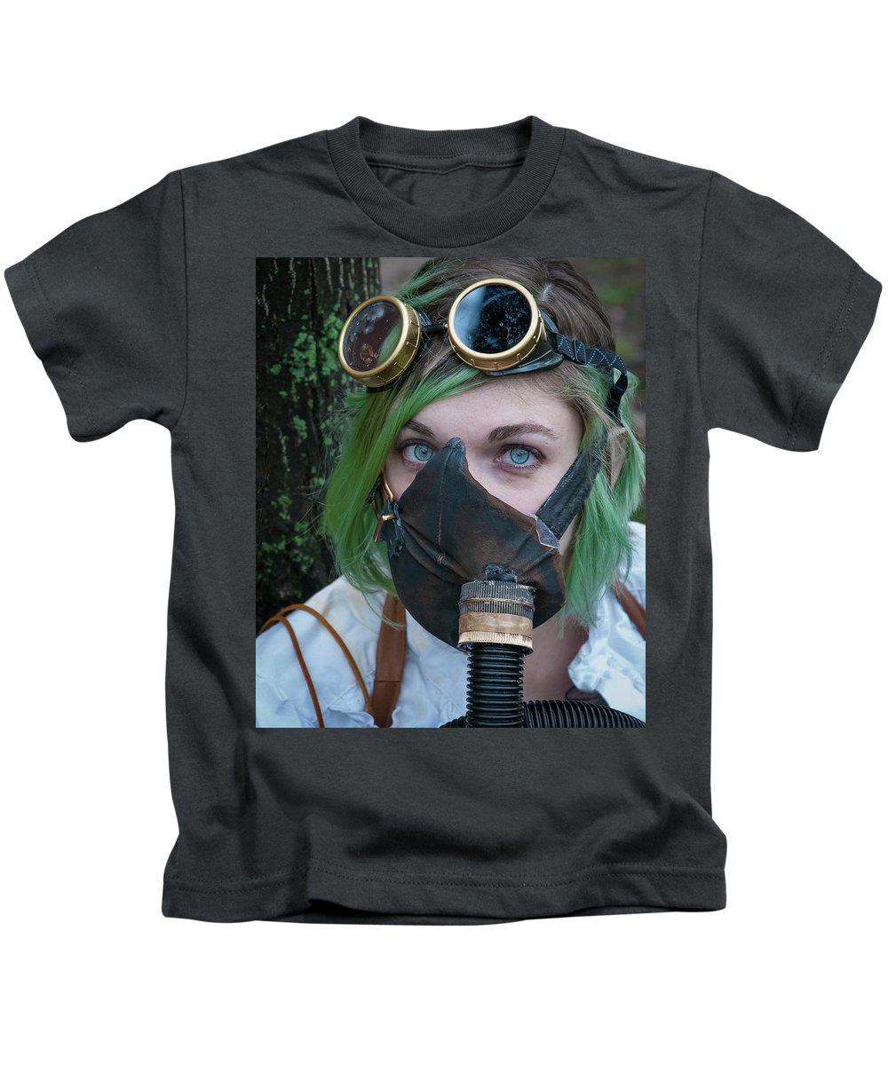 Massachusetts Kids T-Shirt featuring the photograph Steampunk Girl by Rick Mosher