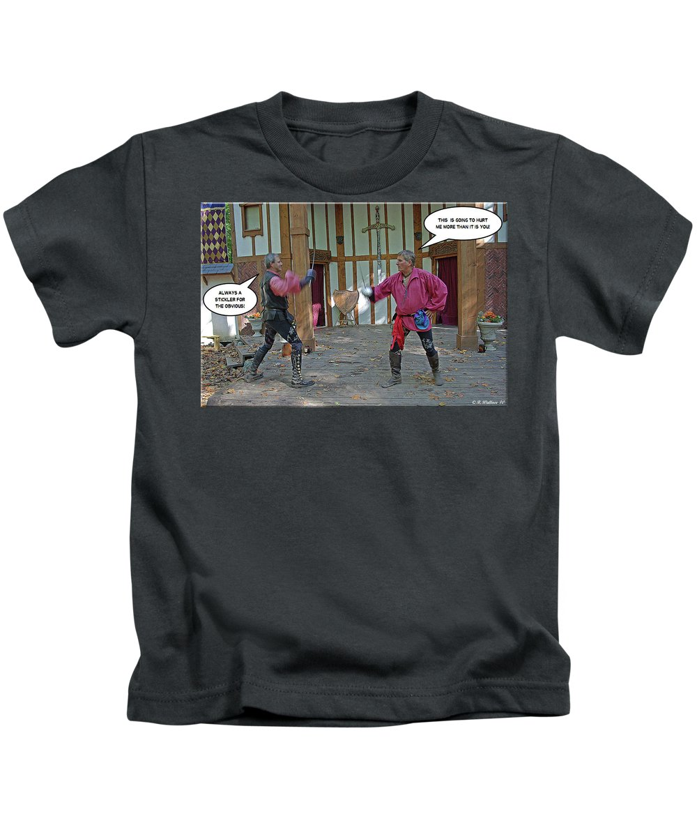 2d Kids T-Shirt featuring the photograph Stickler by Brian Wallace
