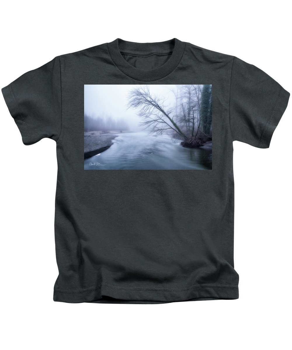Tree Kids T-Shirt featuring the photograph Still Holding On by Charlie Duncan