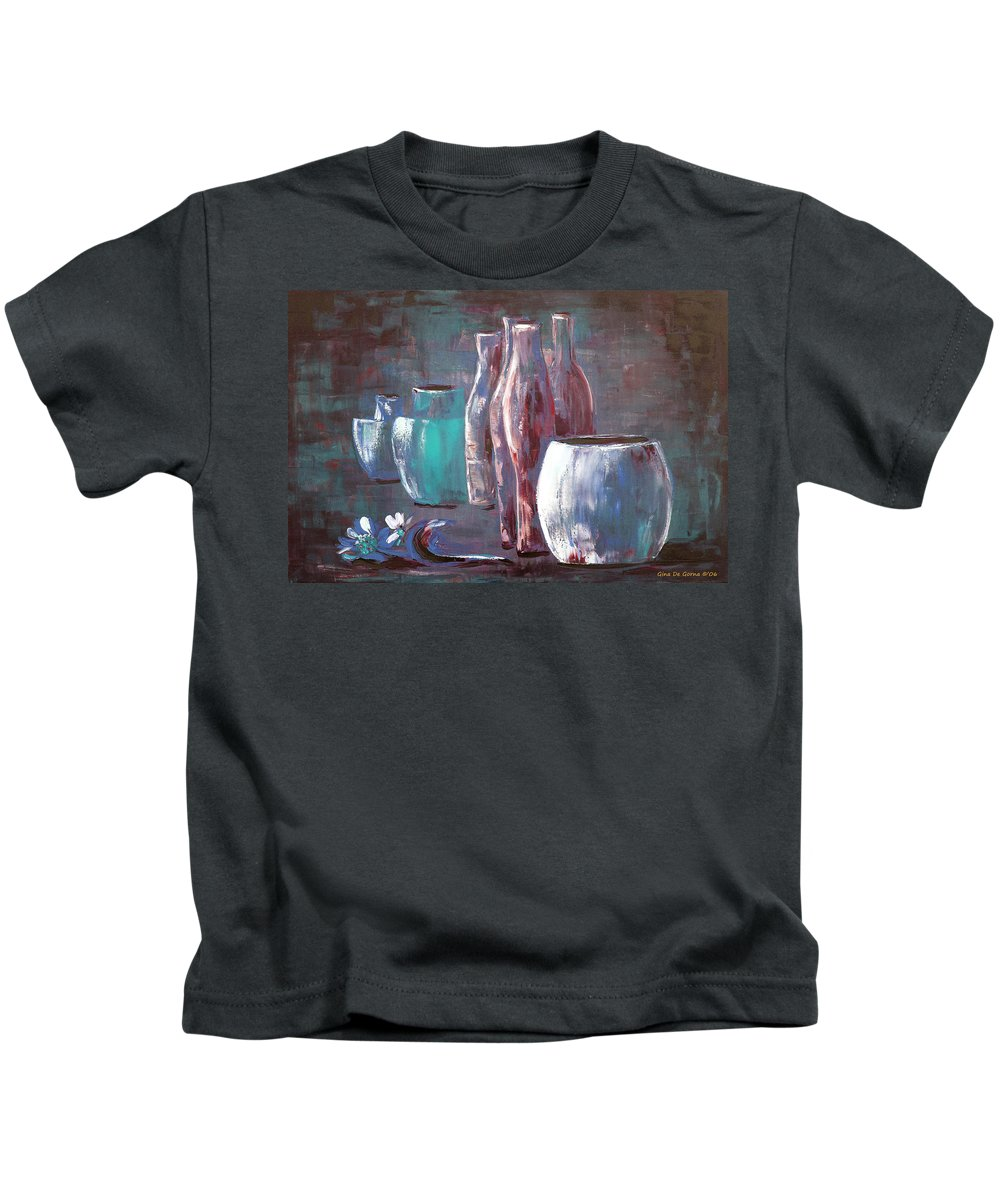 Still Kids T-Shirt featuring the painting Still Life 2 by Gina De Gorna