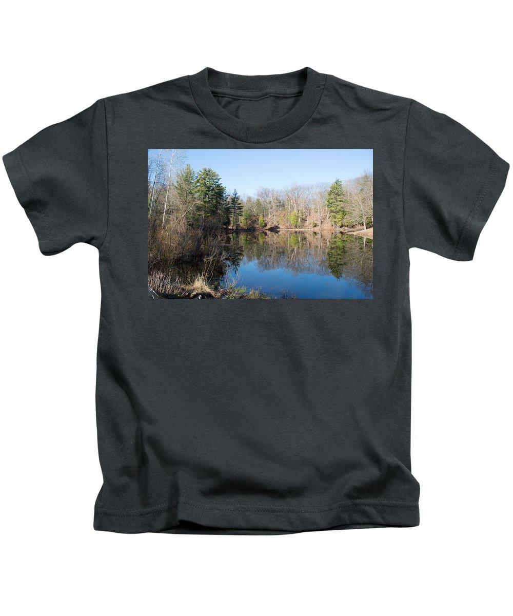 Michigan Kids T-Shirt featuring the photograph Still Water by Linda Kerkau
