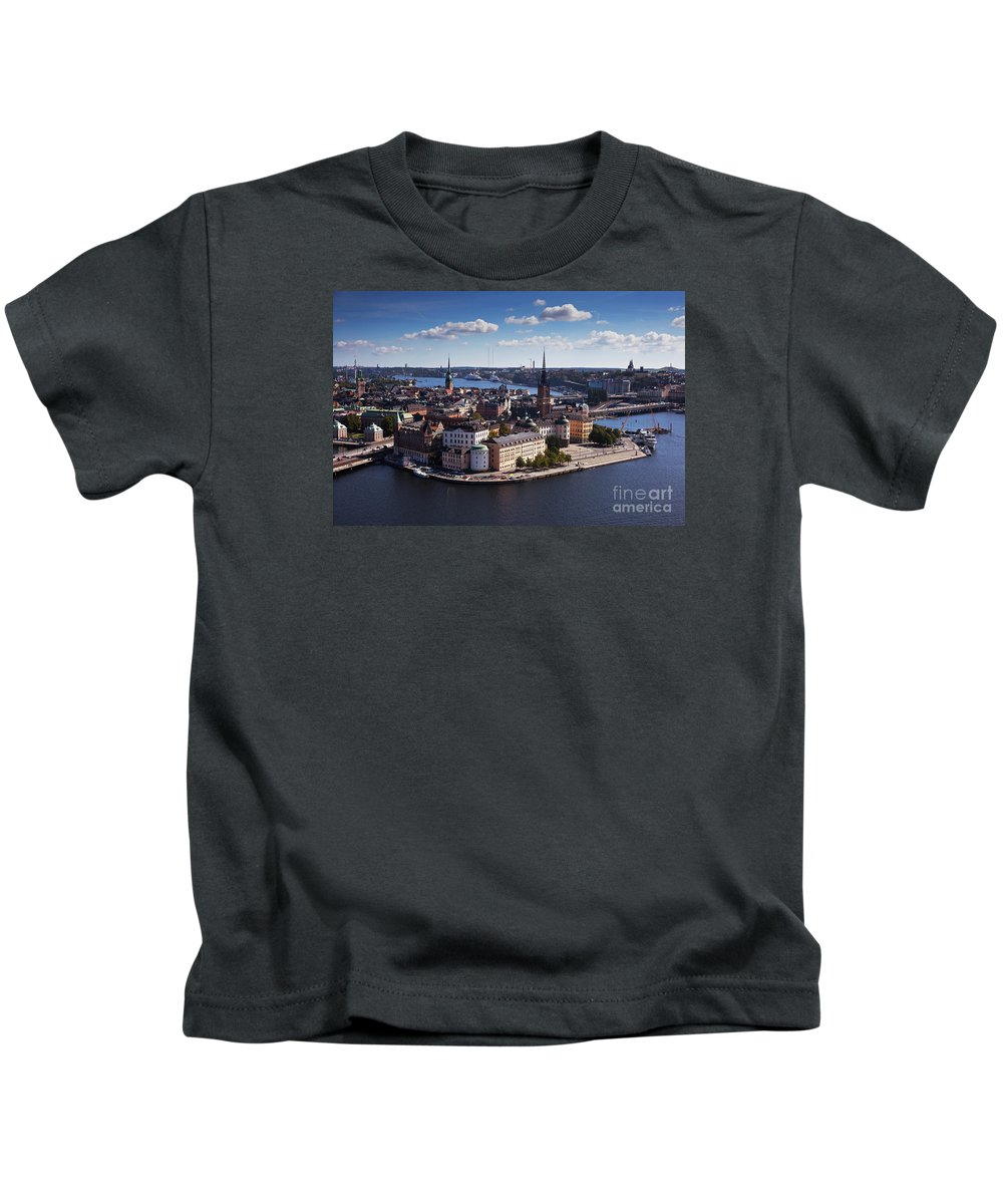 Architecture Kids T-Shirt featuring the photograph Stockholm by Allan Wallberg