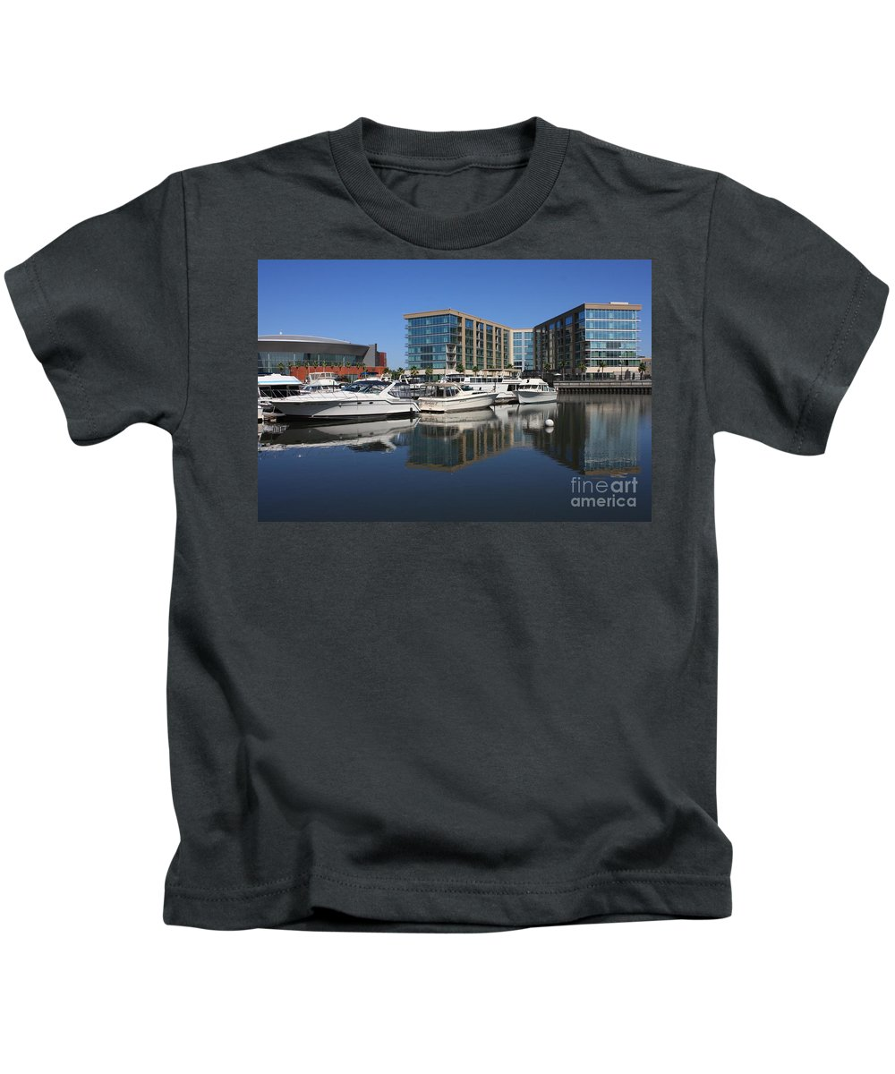Stockton Kids T-Shirt featuring the photograph Stockton Waterscape by Carol Groenen