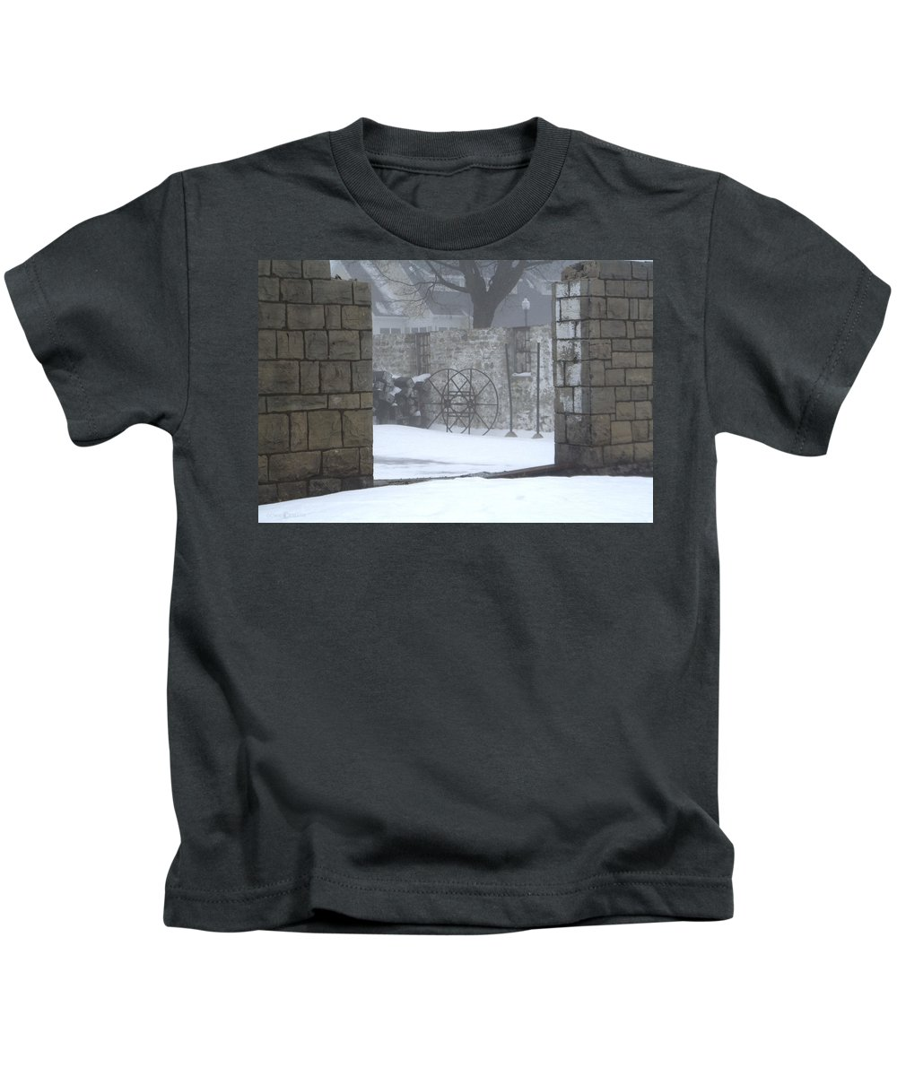 Winter Kids T-Shirt featuring the photograph Stone Cellar by Tim Nyberg