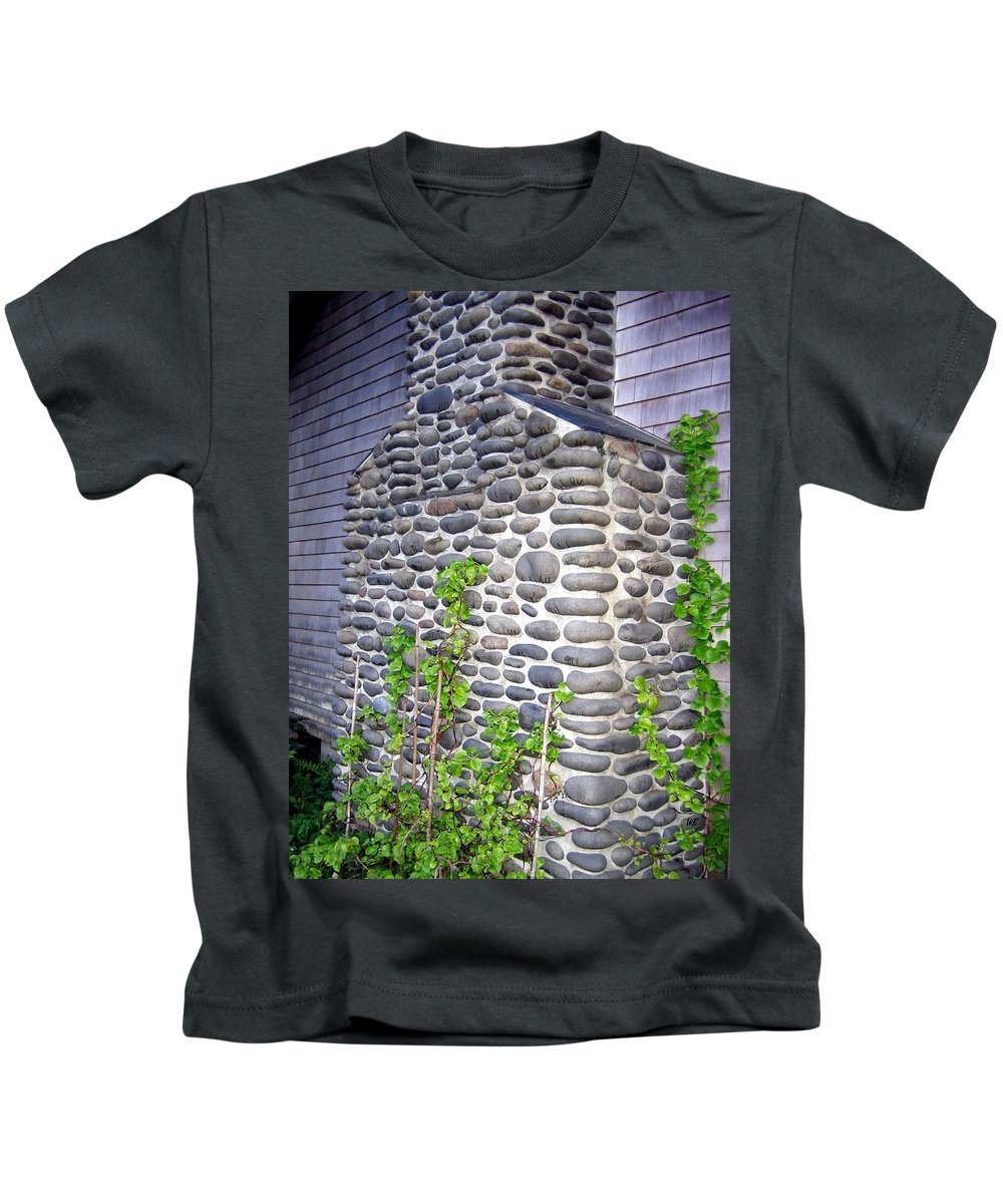 Chimney Kids T-Shirt featuring the photograph Stone Chimney by Will Borden