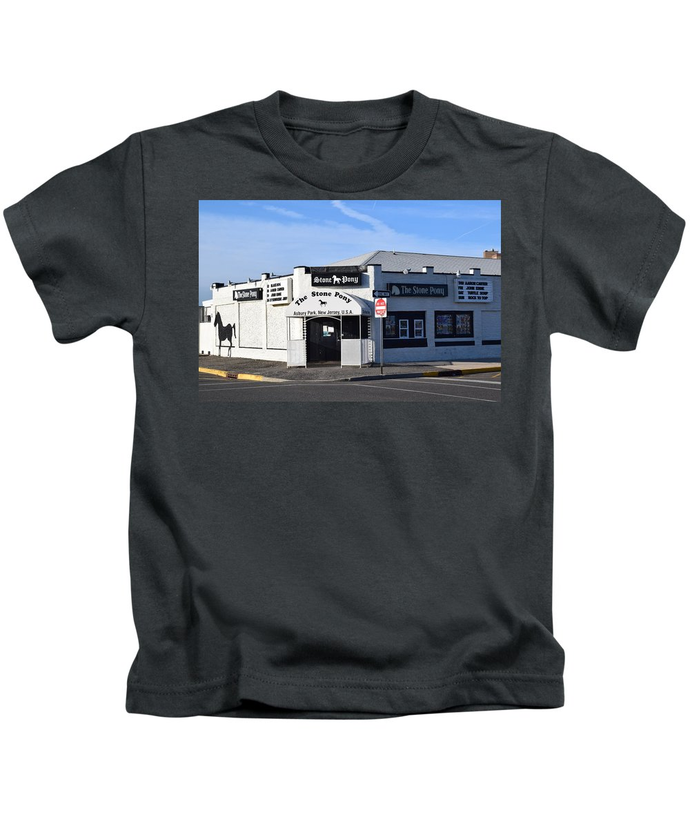 Stone Pony Kids T-Shirt featuring the photograph Stone Pony, Asbury Park by Bob Cuthbert