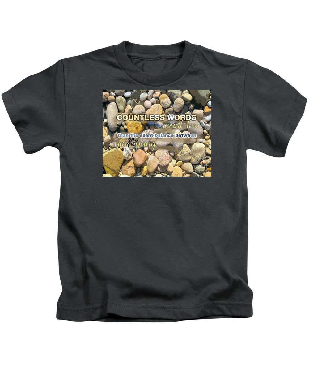 Kids T-Shirt featuring the digital art Stone Wisdom by Joseph Re