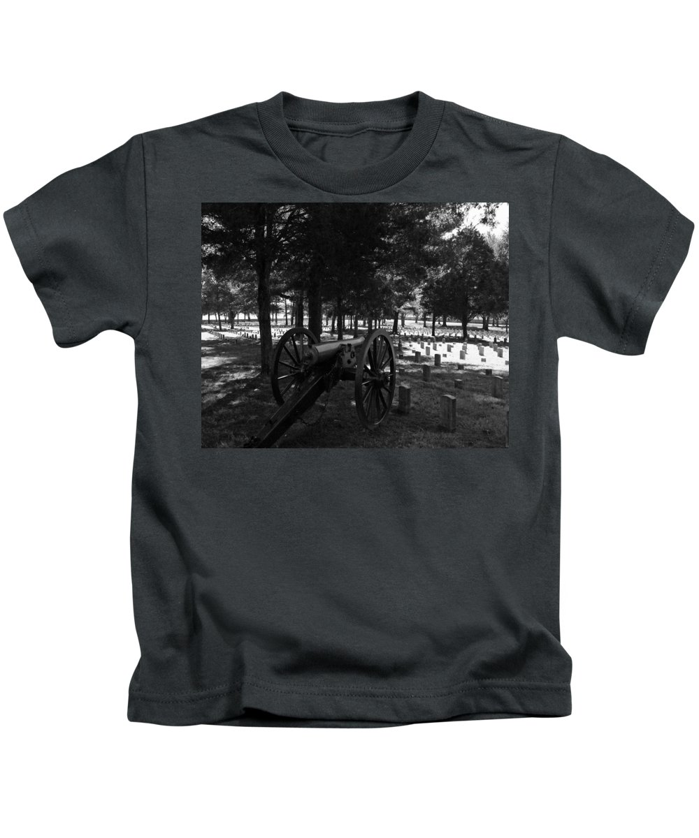 Military Kids T-Shirt featuring the photograph Stone's River by Pamela Peters