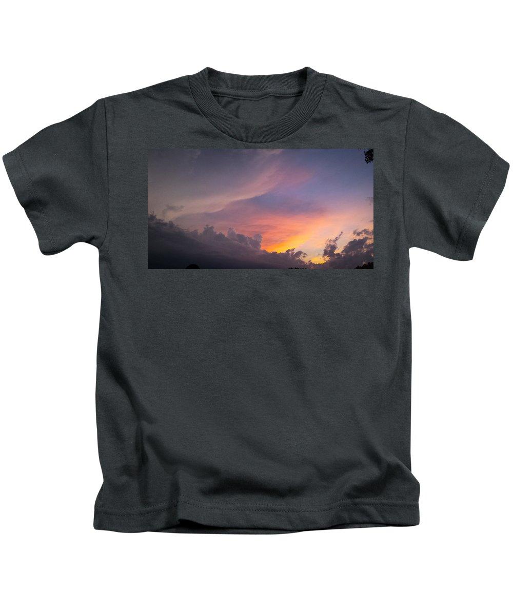 Storm Kids T-Shirt featuring the photograph Storm Clouds 1 by Jennifer Kohler
