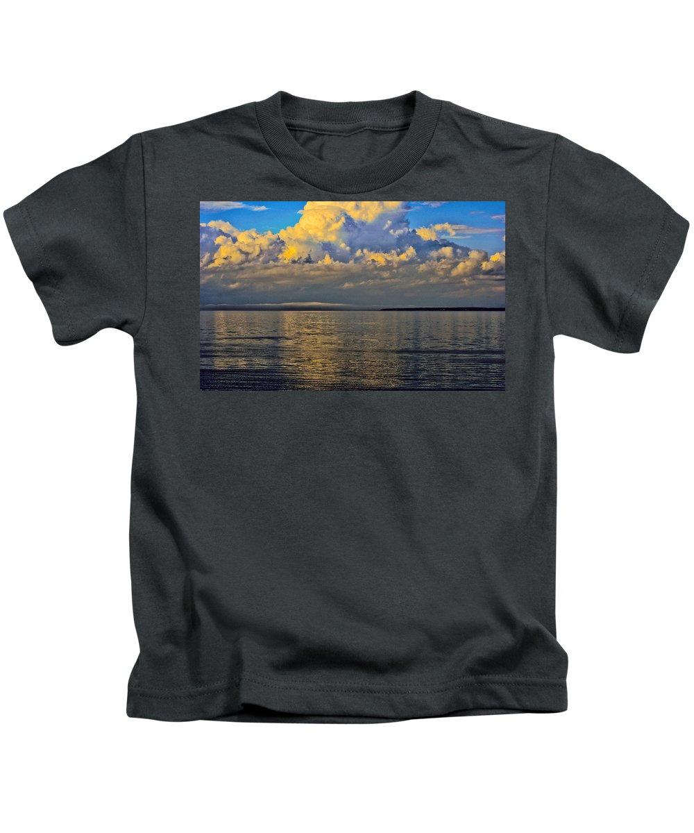 Kids T-Shirt featuring the photograph Storm Clouds by Kathleen Sartoris