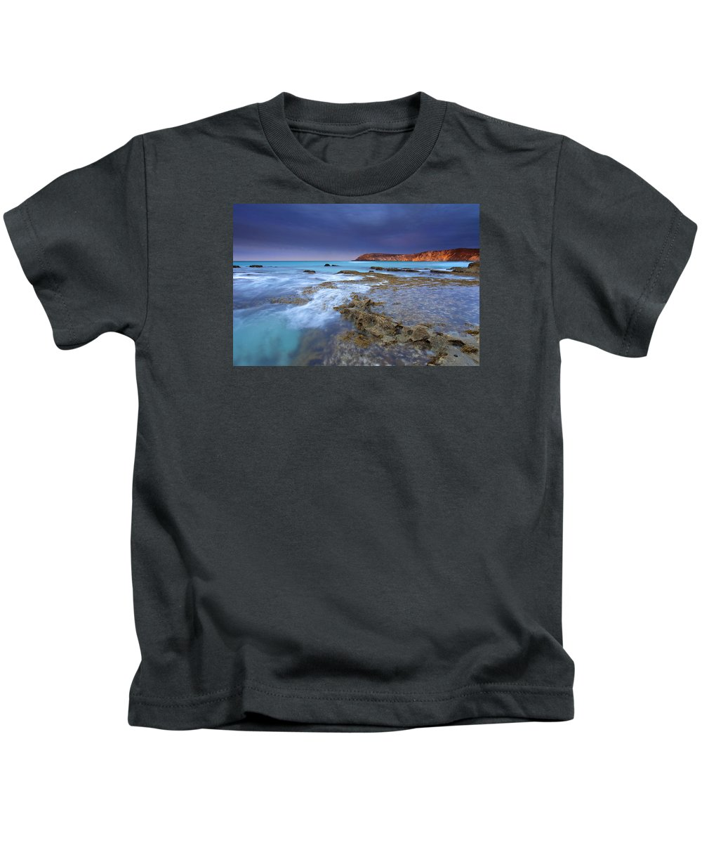 Dawn Kids T-Shirt featuring the photograph Storm Light by Mike Dawson
