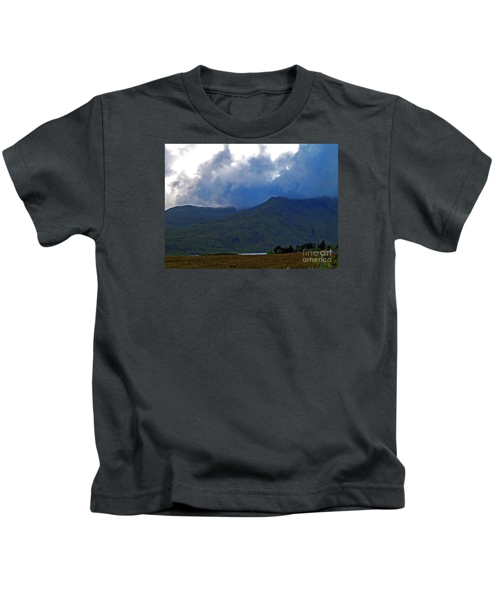 Fine Art Photography Kids T-Shirt featuring the photograph Storm On The Horizon In Connemara by Patricia Griffin Brett