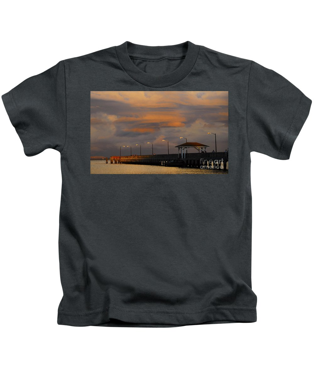 Storm Kids T-Shirt featuring the photograph Storm Over Ballast Point by David Lee Thompson