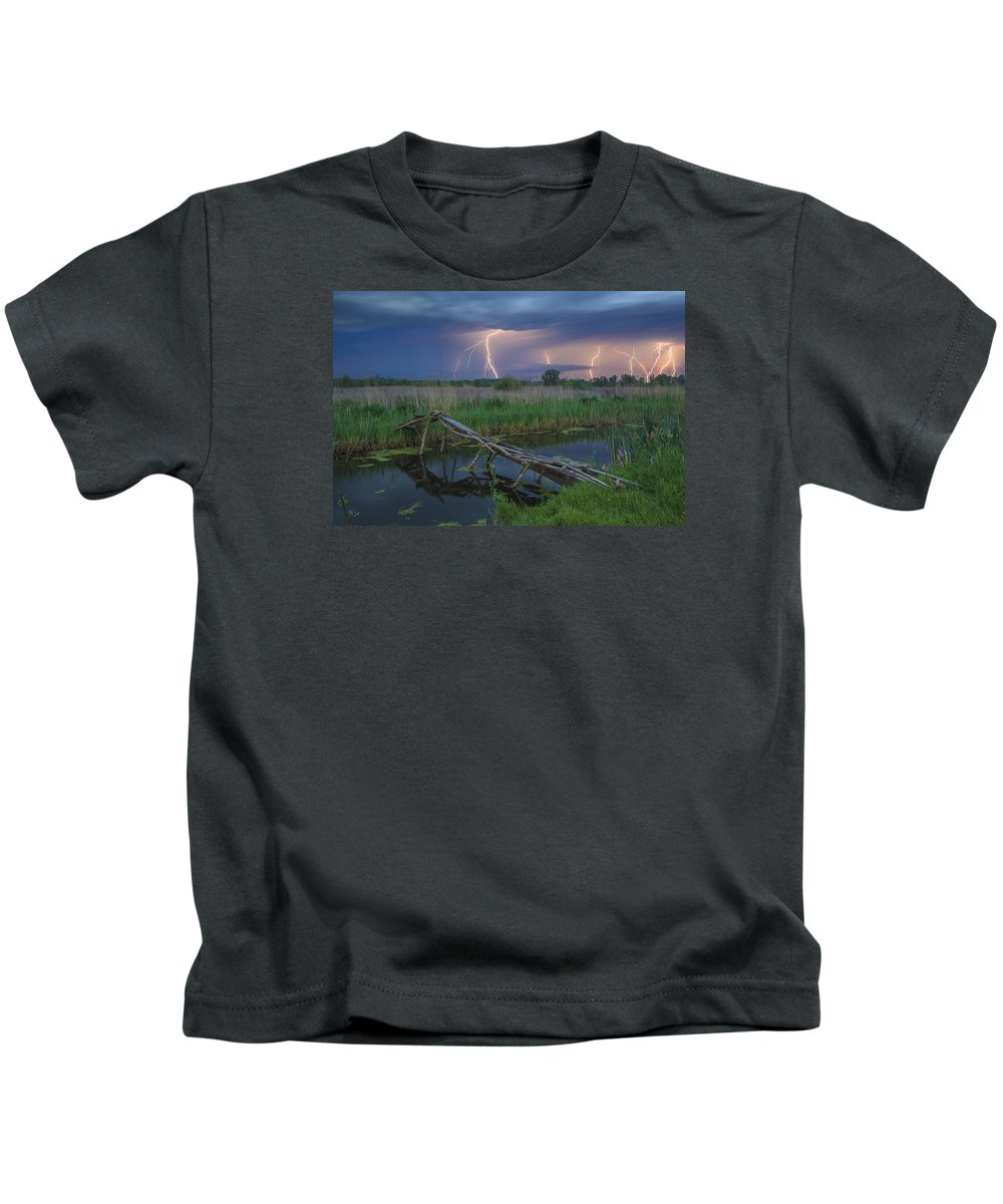 Storm Kids T-Shirt featuring the photograph Stormy Evening by Anton Petrus