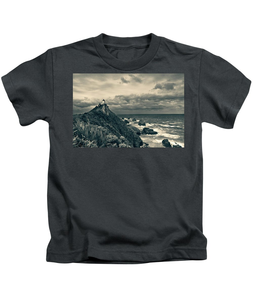 Beach Kids T-Shirt featuring the photograph Stormy Weather by U Schade