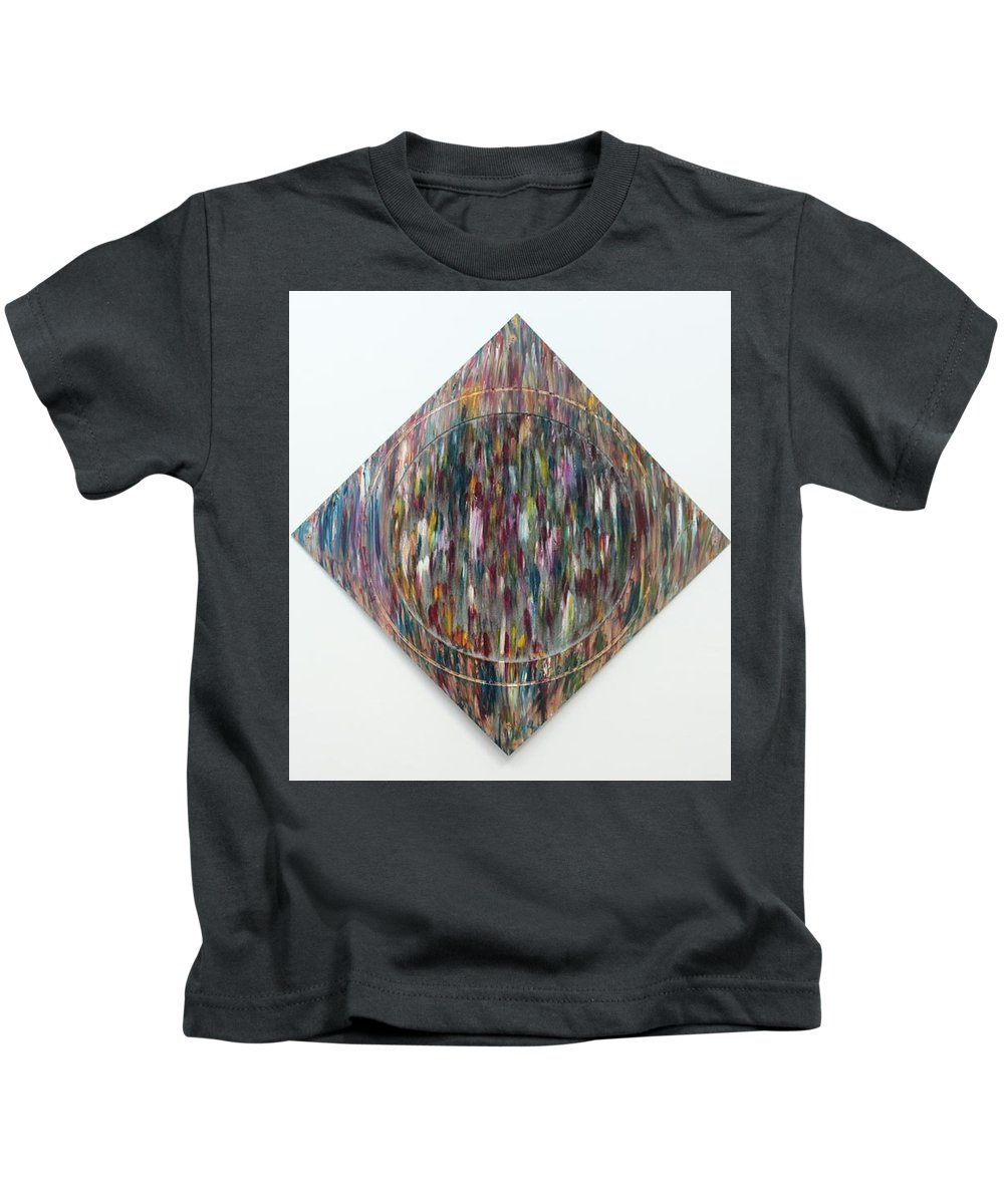 Art Kids T-Shirt featuring the painting Strangers 3 by Nour Refaat
