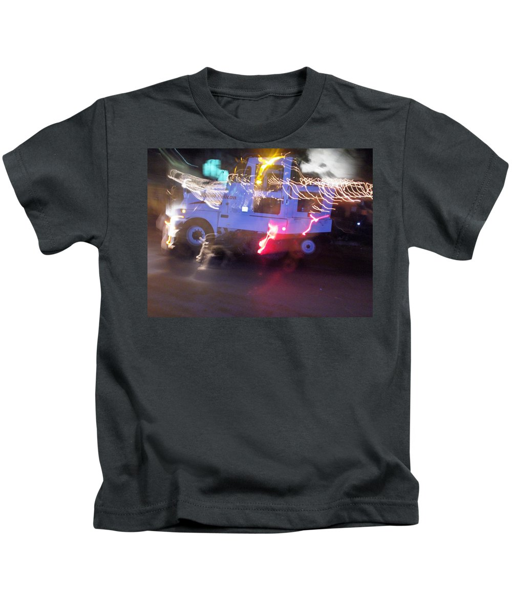 Photograph Kids T-Shirt featuring the photograph Street Sweeper by Thomas Valentine