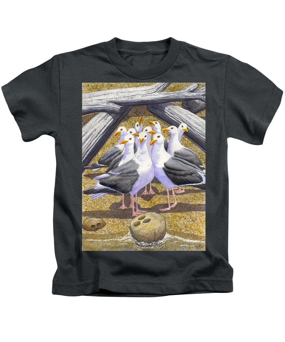 Beach Kids T-Shirt featuring the painting Strike by Catherine G McElroy