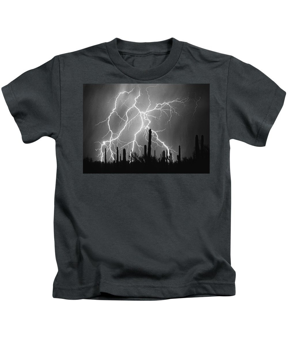Arizona Kids T-Shirt featuring the photograph Striking Photography In Black And White by James BO Insogna