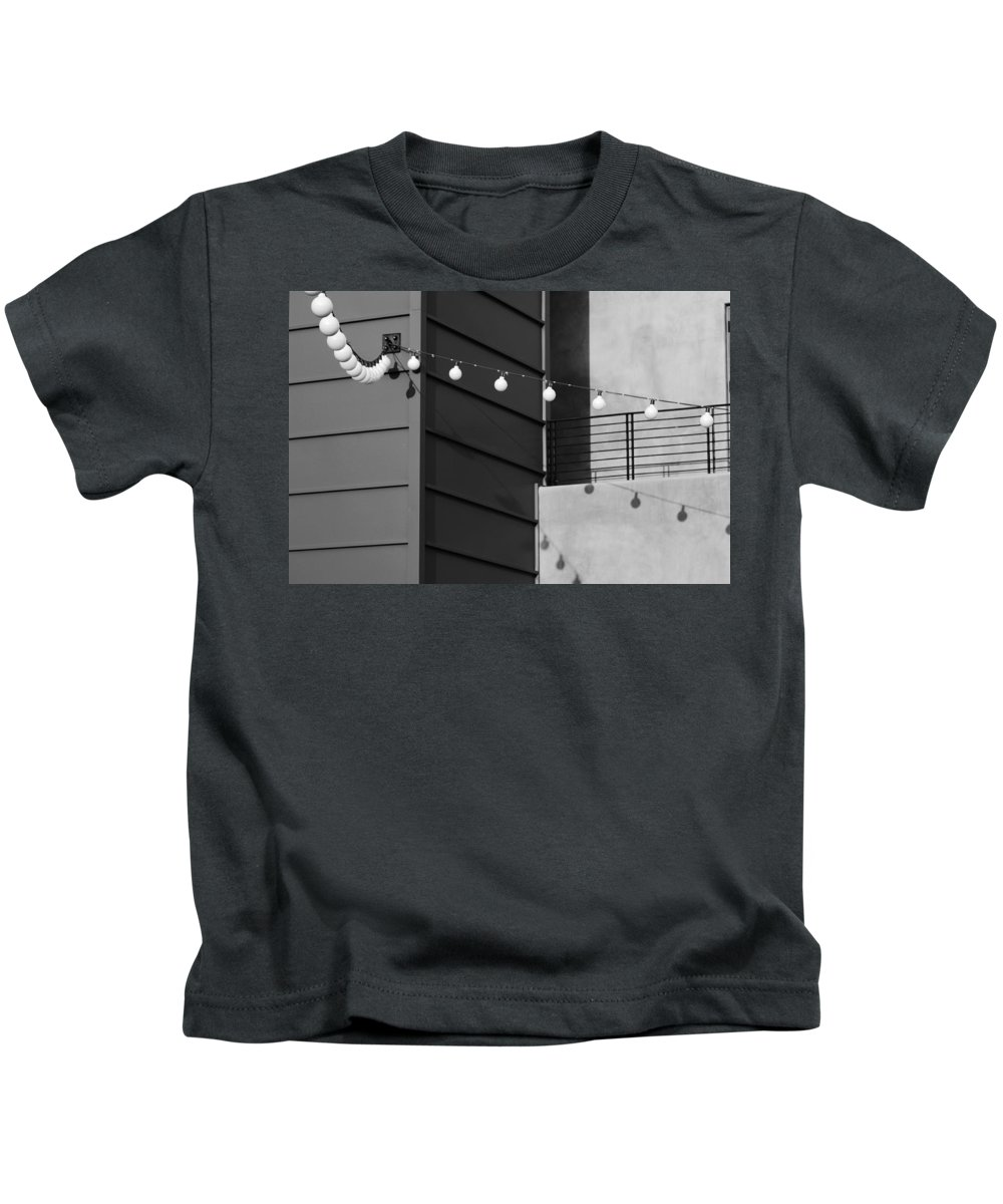 Black And White Kids T-Shirt featuring the photograph String Of Ideas Black And White by Jill Reger