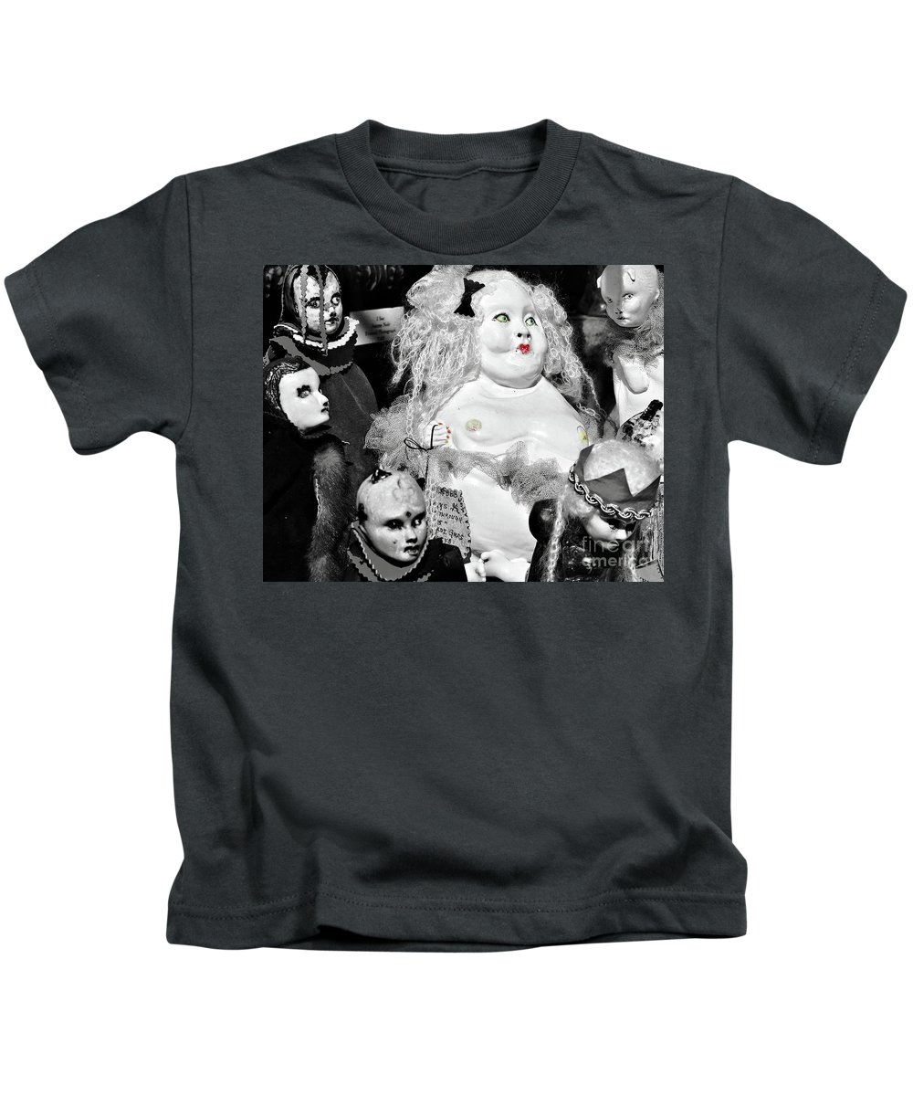 Doll Kids T-Shirt featuring the photograph Stuck In The Window With You by Kathleen K Parker