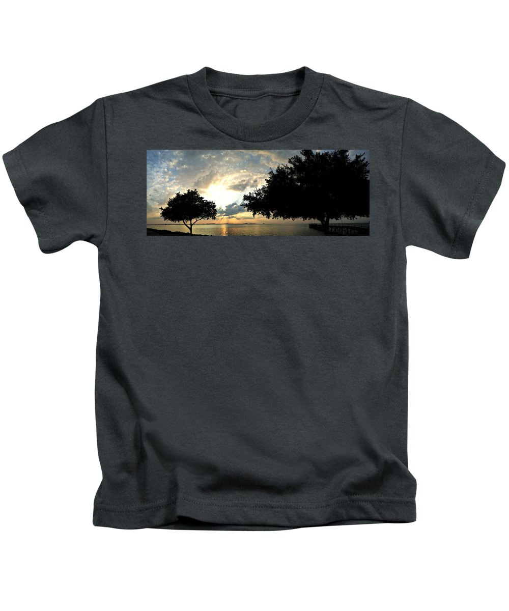 Sunset Kids T-Shirt featuring the photograph Stunning Sunset by Avery French