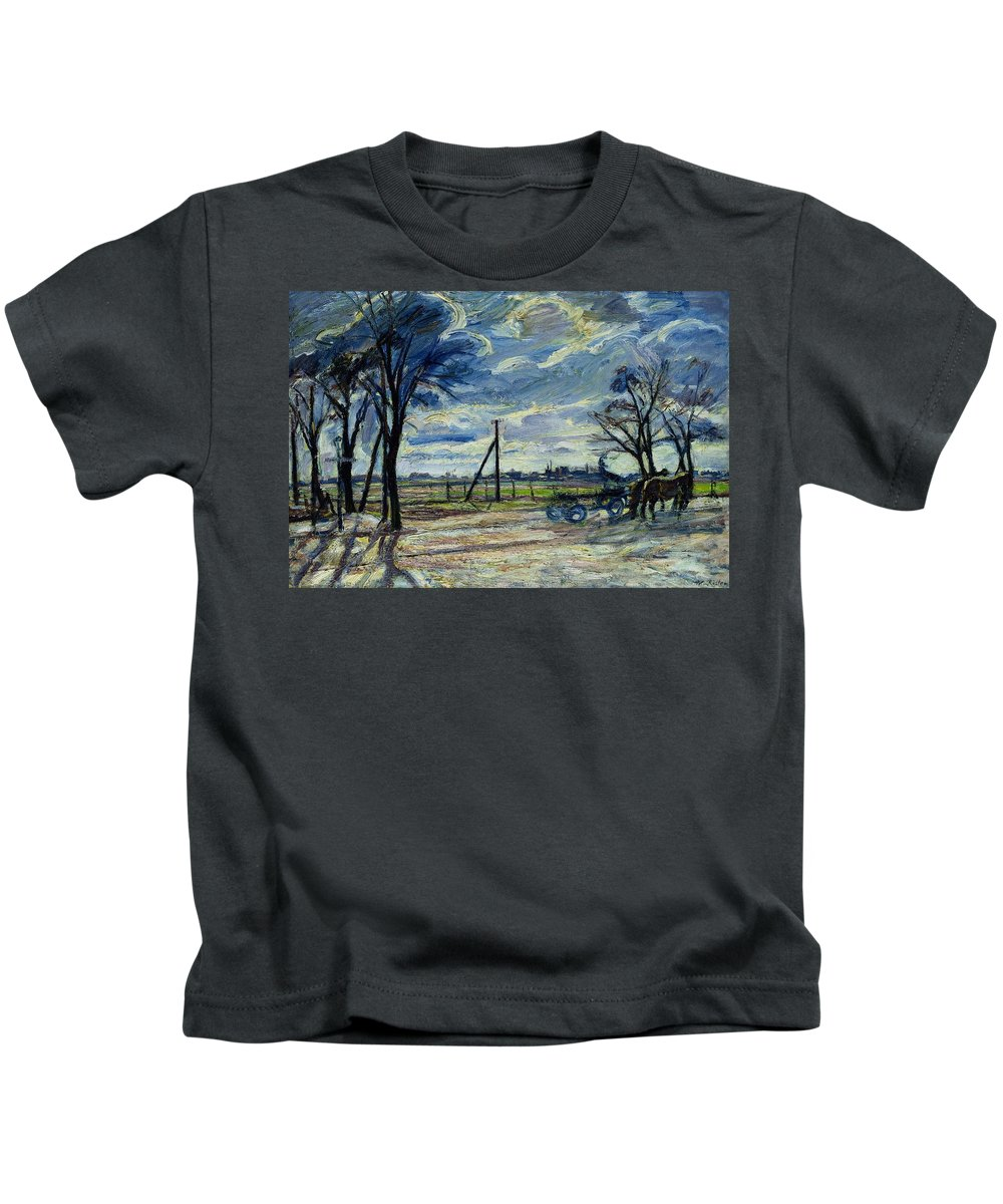 Suburban Kids T-Shirt featuring the photograph Suburban Landscape In Spring by Waldemar Rosler