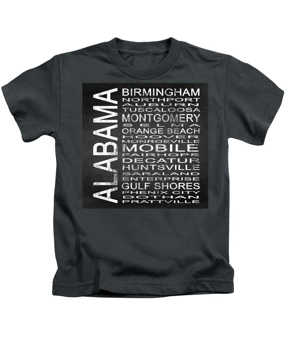 Subway Sign Kids T-Shirt featuring the digital art Subway Alabama State Square by Melissa Smith