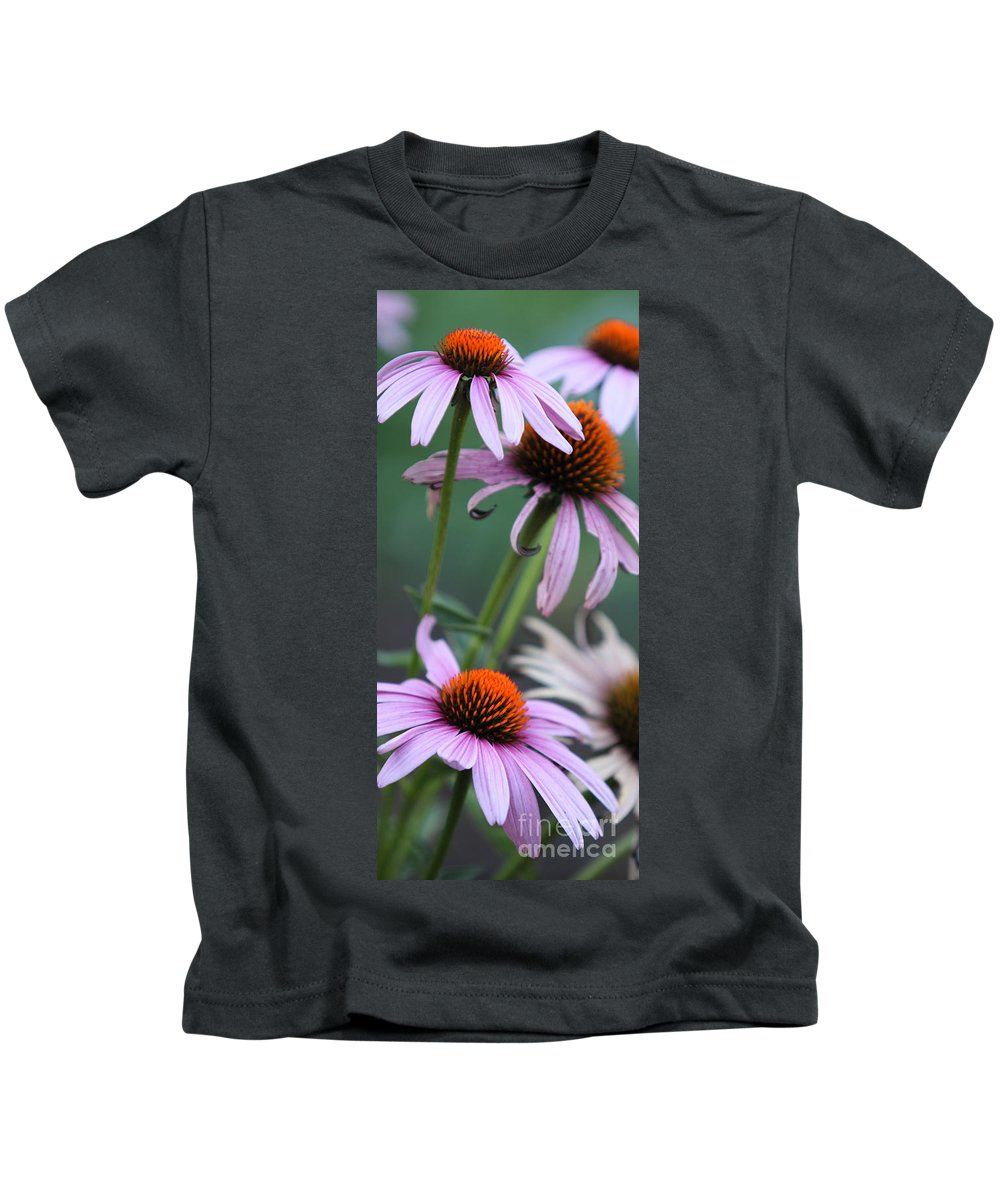 Echinacea Kids T-Shirt featuring the photograph Summer by Amanda Barcon