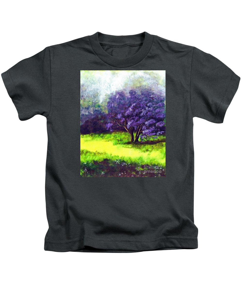 Fine Art Print Kids T-Shirt featuring the painting Summer Mist by Patricia Griffin Brett
