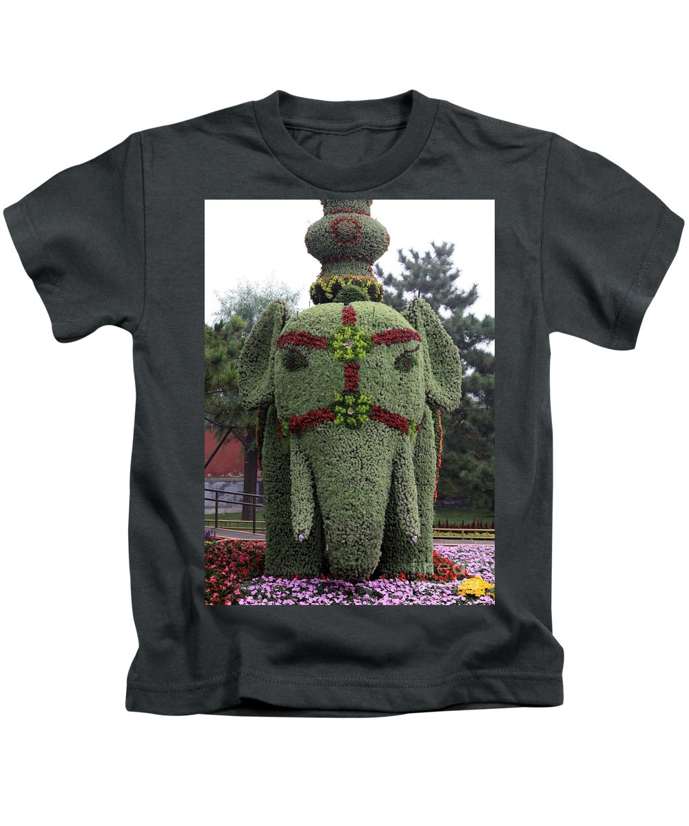 Elephant Kids T-Shirt featuring the photograph Summer Palace Elephant 2 by Carol Groenen