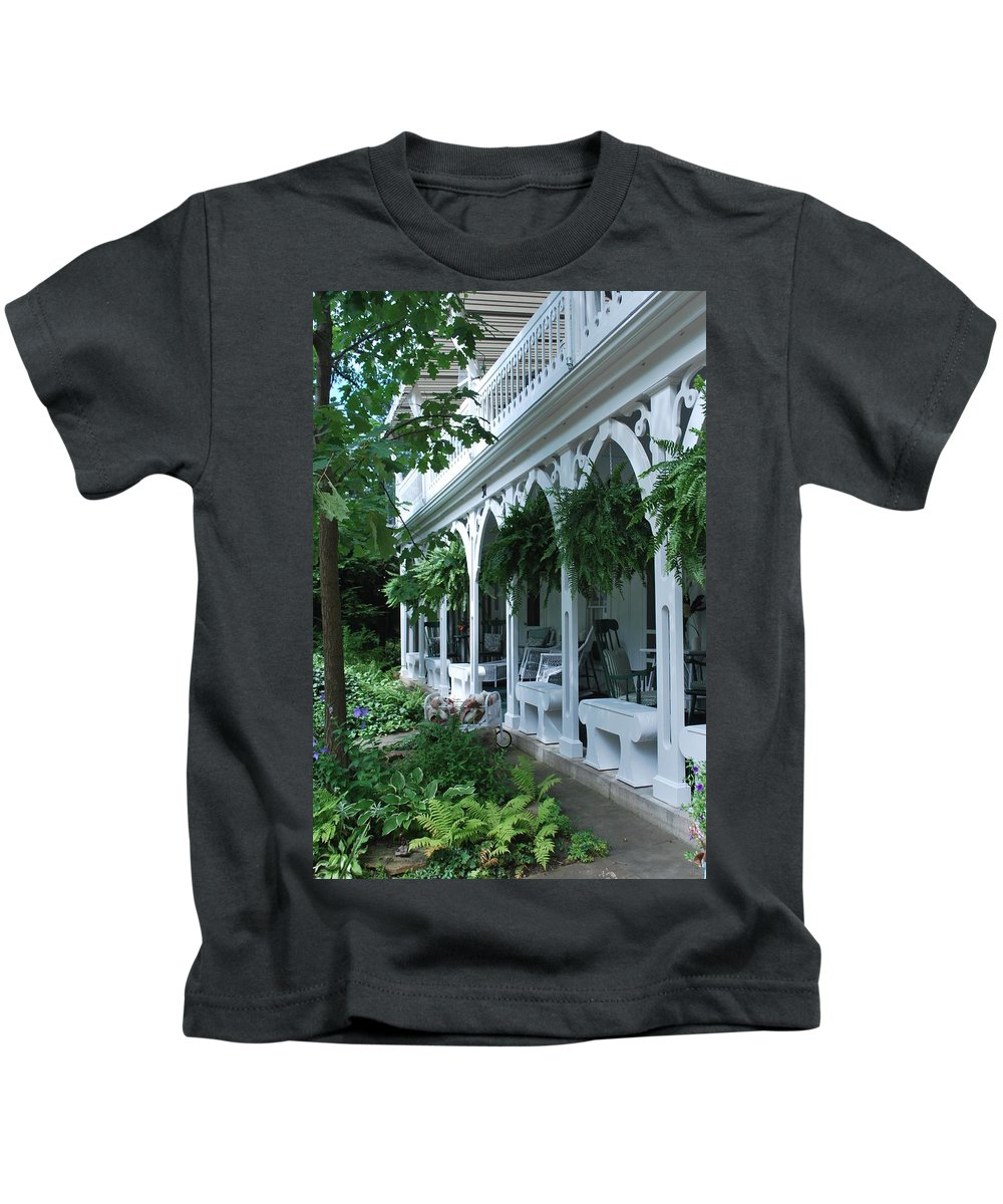 Summer Kids T-Shirt featuring the photograph Summer Porch by Eileen Marie Ardillo