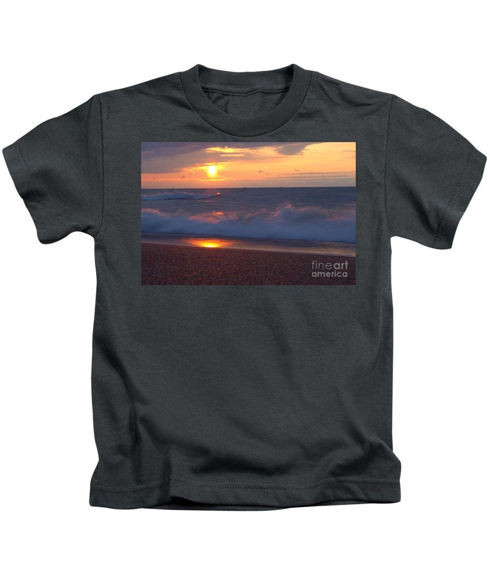 Grand Bend Kids T-Shirt featuring the photograph Summers Breath 6 by John Scatcherd