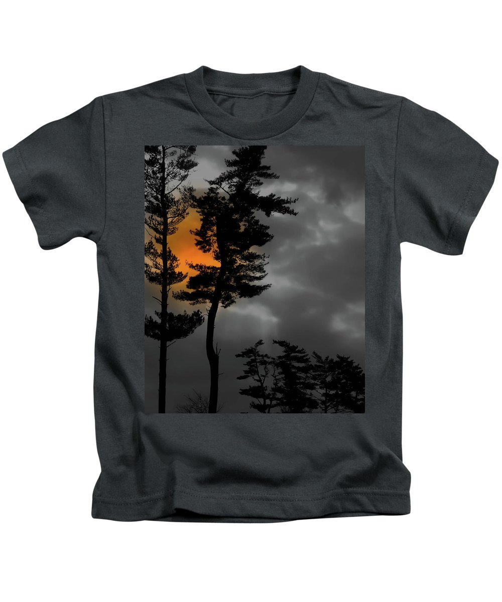 Wyomissing Kids T-Shirt featuring the photograph Sun Over Spring Ridge by Trish Tritz
