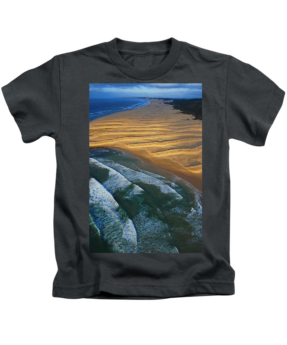 Coast Kids T-Shirt featuring the photograph Sun Rise Coast by Skip Hunt