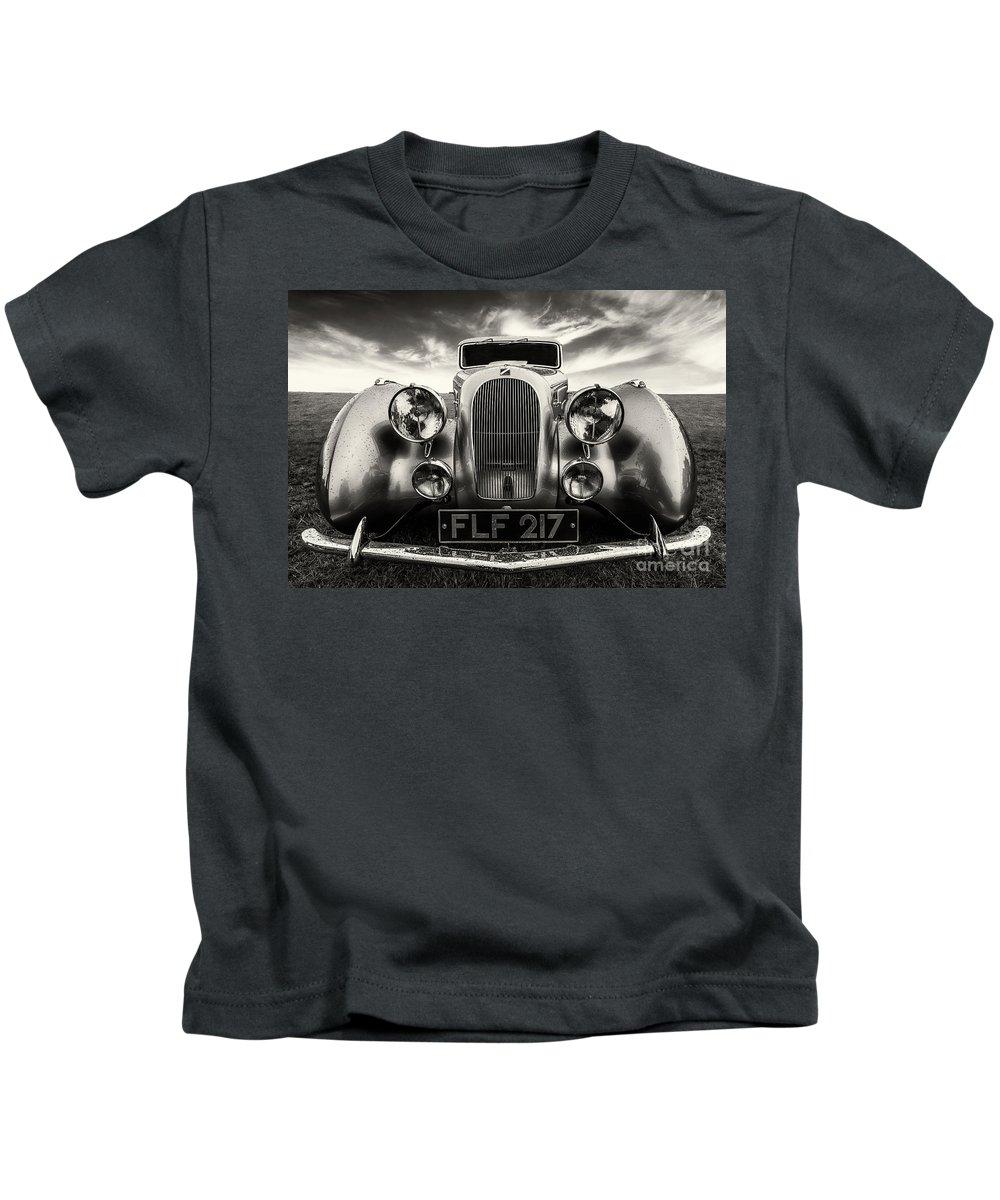 Car Kids T-Shirt featuring the photograph Sunbeam Talbot Darracq by Adrian Evans