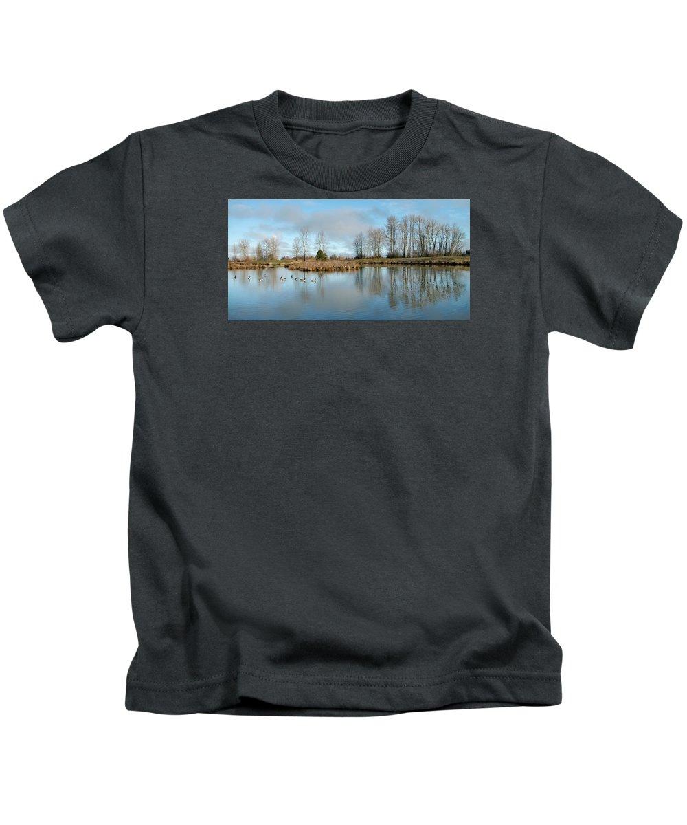 Golden Gardens Park Kids T-Shirt featuring the photograph Sunday Morning by Allan Erickson